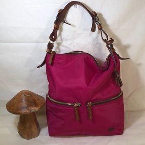 Dooney and Bourke Bright Pink Nylon Shoulder Bag